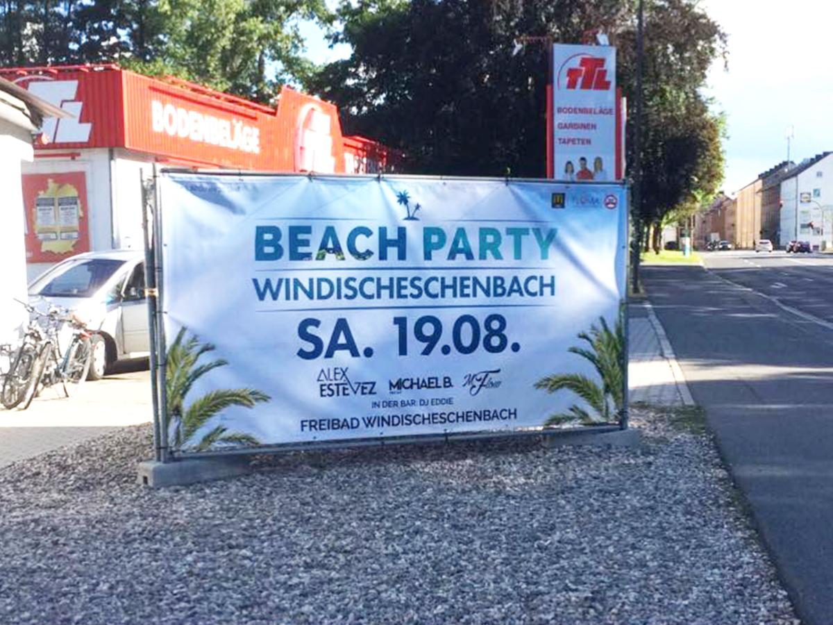 Toni Design Projekt - Banner Beachparty Windischeschenbach