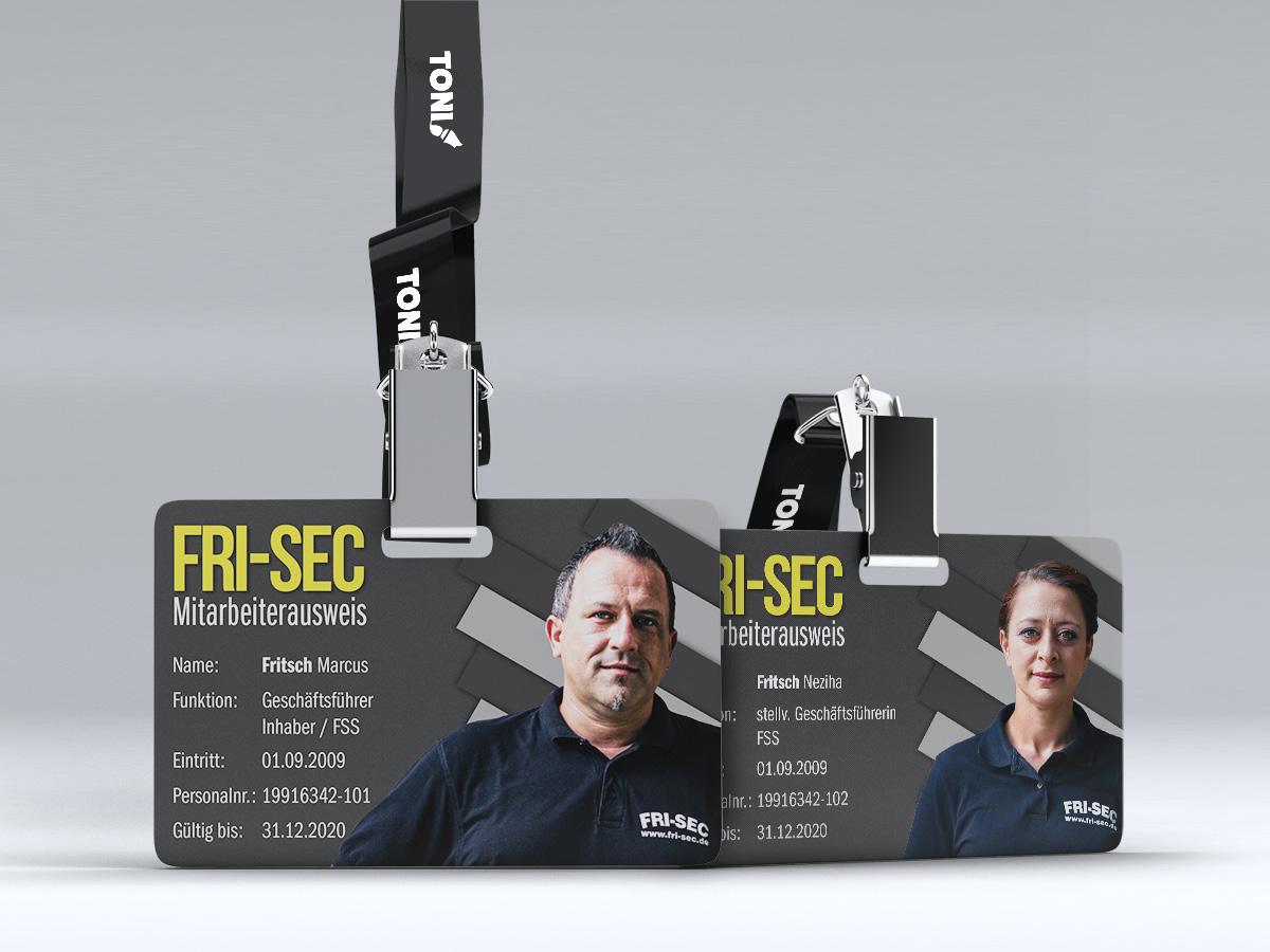 TONI Design Projekt - FRI-SEC Ausweise