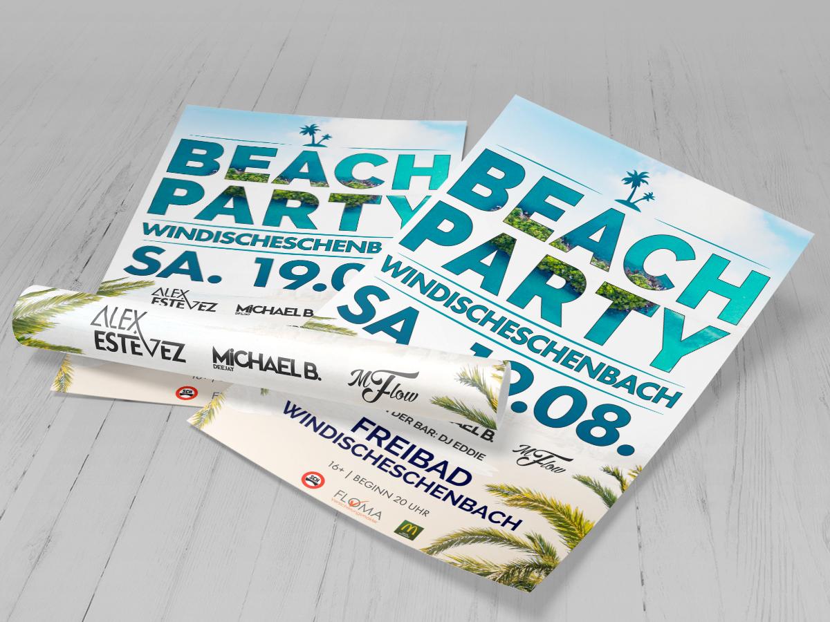 TONI Design Poster - Beach Party Windischeschenbach